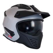 Casco Tech X-2 Cafe Racer Certificado Dot Modular Con Visera