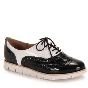 Sapato Oxford Feminino Brenda Lee - Pto/bco