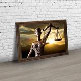 Quadro Escritório De Advocacia, Deusa Da Justiça Moldura