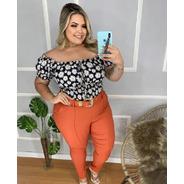 Calça Feminina Plus Size 48-52  Bengaline Creponado