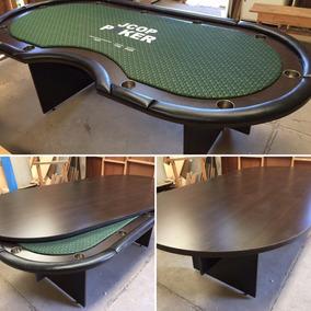 Mesa De Poker Oval P/10 Jugadores + Cruíer C/tapa Comedor