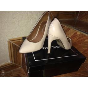 Tacones/zapatos Altos Nude/ Piel Talla 6 1/2 Pierre Dumas