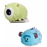 2 Muñecos Tsum Tsum Peluche Monster University Sully + Mike