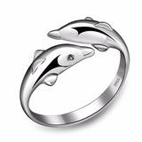 Anillo Delfin Doble - Mujer - Pez - Accesorios Gato Parejas
