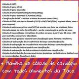 Planilha De Cálculo Nutricional E Cálculo De Cardápio