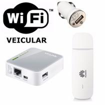 Kit Wi-fi Veicular | Mini Roteador + Modem 3g | 10 Usuários