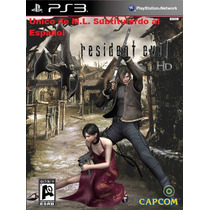 Resident Evil 4 Ps3 Subt En Español Y Re Revelations 2