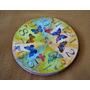 Centro De Mesa Giratorio Decoupag Decorado Mariposas Colores