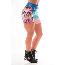 Bermuda Shorts Academia Caveira Fitness