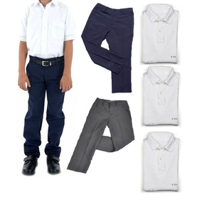 Combo Uniforme Colegio 3 Camisa Polo + 2 Pantalones