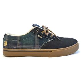 Tênis Skate Etnies Jameson 2 Eco Black/plaid Tam Us 10 Br 42