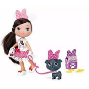 Muñeca I Love Minnie Con Mascota Famosa Wabro