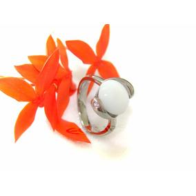 Anillo De Acero Con Opalo Y Zirconia