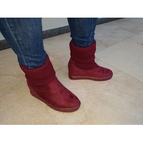 Botas Zapatillas Sneakers Caña Elastizadas Taco Escondido
