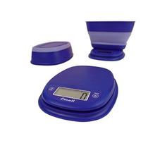 Báscula Alimentos Pop Escali C/tazón Retráctil 5kg Azul