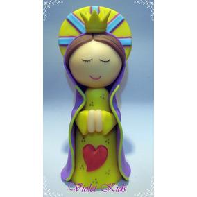 Adorno De Torta Comunión En Porcelana Fría Virgen
