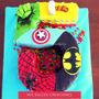 Torta Cumple - Capitan America Batman Thor Spiderman Hulk