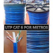 Cable Utp Cat6 Cat 6 100% Cobre 4 Pares X Metro
