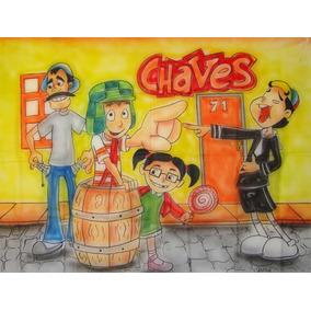 Painel De Festa Infantil 1,40x1,00m - Chaves