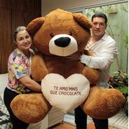 Urso Pelúcia Gigante Big Teddy 1,3 Mts 130 Cm Para Namorada