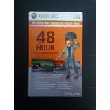 Xbox Live Gold Membership De 48 Horas Para Xbox 360