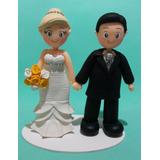 Noivinhos Em Biscuit Topo De Bolo Casamento Personalizado
