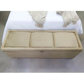 Puff Bau Casal Athenas P/ Pé De Cama Box