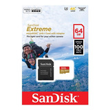Micro Sd 64gb Sandisk Extreme U3 A2 4k Gopro