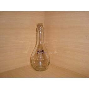 Botella Vidrio Chianti 375cc Envase-souvenirs Con Corcho