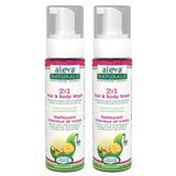 Aleva Naturals 2 En 1 Pelo Y Body Wash, 13,5 Onzas Líquidas