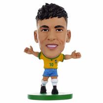 Mini Craque Neymar Jr N10 Original Cbf Miniatura Boneco Copa