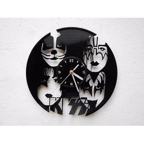 Reloj De Disco Vinilo Vinil Acetato Lp Kiss Gene Simmons