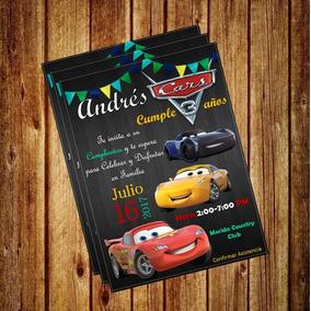 Invitacion Digital Cars Disney, Rayo Mcqueen