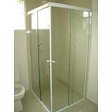 Box Para Banheiro Vidro Incolor 8mm Instalado Campinas