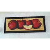 Cuadro De Manzanas En Óleo 1.25x.50
