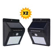 Panel Reflector X 2 Solar 30 Led Sensor Movimiento Exterior