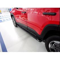 Estribo Tubular Oval Preto Jeep Renegade
