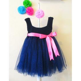 Vestido Crochet Con Tul Niña Talla 4 A 5 Años Fiesta Tutu