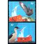 * Argentina 2001 Gj 3109/10 Mt 2400/01 Antartida Fauna Aves