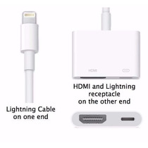 Adaptador Lightning Av Digital/hdmi Iphone 5 E 6 Ipad Ipod