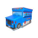 Bau Caixa Organizadora Guardar Brinquedos Puff Infantil