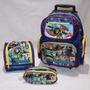 Kit Mochila Rodinhas Toy Story Buzz + Lancheira + Estojo