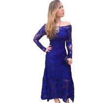 Vestido Feminino Renda Longo Festa Fica #vl1 Maravilhoso