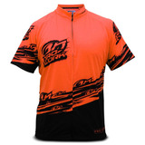 Camisa Ciclismo Pro Tork Line Adulto Bike Laranja E Preto