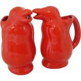 Jarra Para Vino 750ml Roja Ceramica Artesanal Pinguino