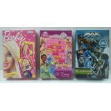 Juegos De Cartas Barbie, Max Steel Y Juego De Princesas 3x2