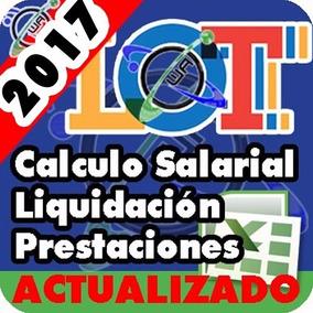 Hoja De Cálculo Salarial Actualizada Excel Prestaciones Y +
