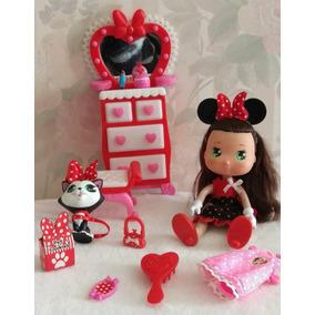Minnie Mouse Con Bellos Accesorios Y Cambio De Ropa, Nuevo!!