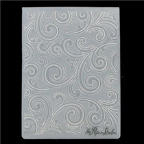 Scrapbook Folder Para Repujado Swirl Cuttlebug Sizzix