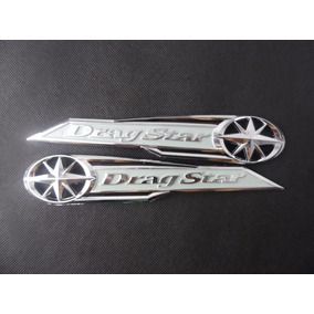 2x Emblema Cromado Drag Star Adesivo 3d Tanque #61